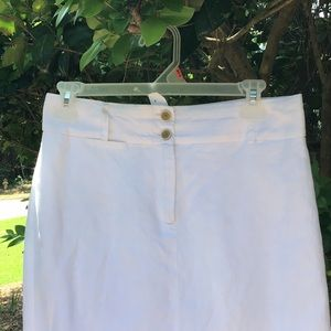 Banana Republic White Linen Skirt, 4, EUC